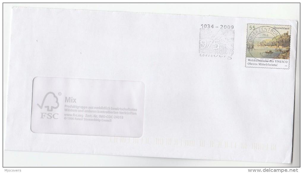2008 GERMANY Deutsche Post POSTAL STATIONERY COVER  UNESCO Stamps - UNESCO