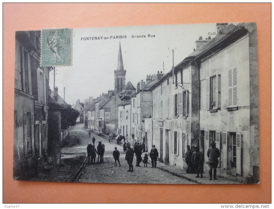 FONTENAY-EN-PARISIS  Grande Rue- Cpa Animée - France