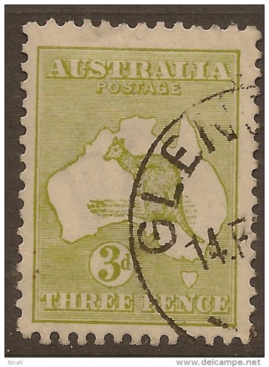 AUSTRALIA 1913 3d Olive Roo SG 5 U #RL15 - Usados
