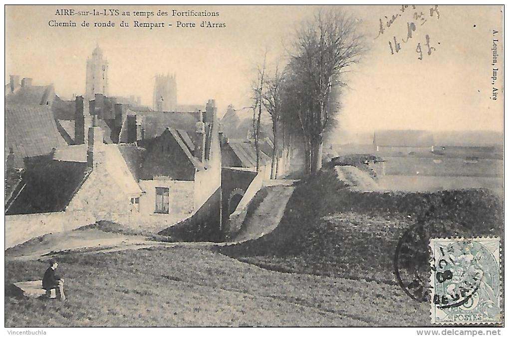 Aire Sur La Lys Au Temps Des Fortifications Chemin De Ronde Du Rempart Porte D'Arras - Aire Sur La Lys