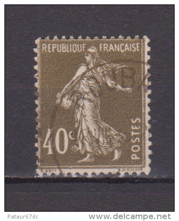 FRANCE / 1924 / Y&T N° 193b : Semeuse Camée 40c Brun-olive (type II) - Choisi - Cachet Rond - France