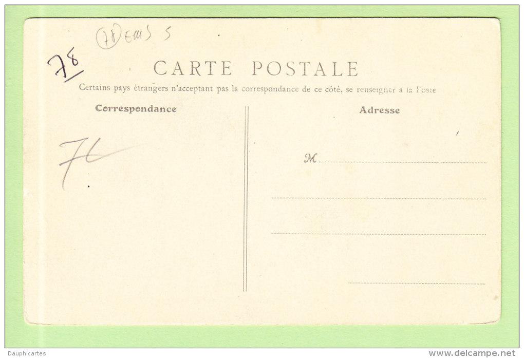 CONFLANS  FIN D'OISE : Vieille Maison Engloutie Par La Crue. Inondations De Janvier 1910. 2 Scans. - Conflans Saint Honorine