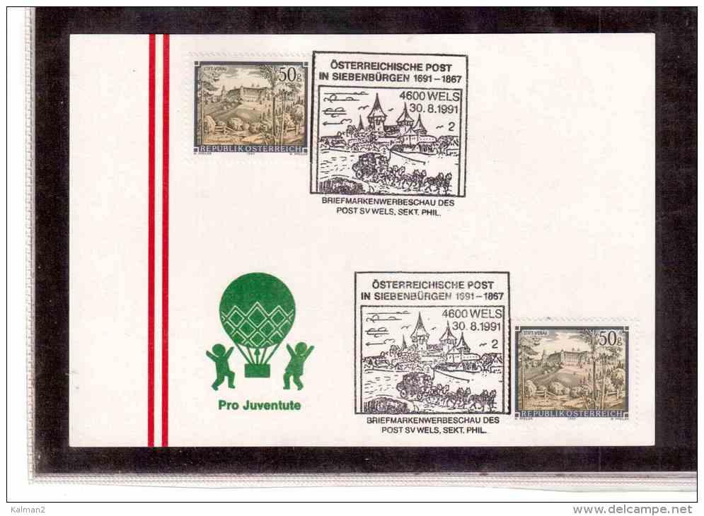 AU565   -    WELS  30.8.1991   /    OESTERREICHISCHE POST IN SIEBENBUERGEN 1691-1867 - Post