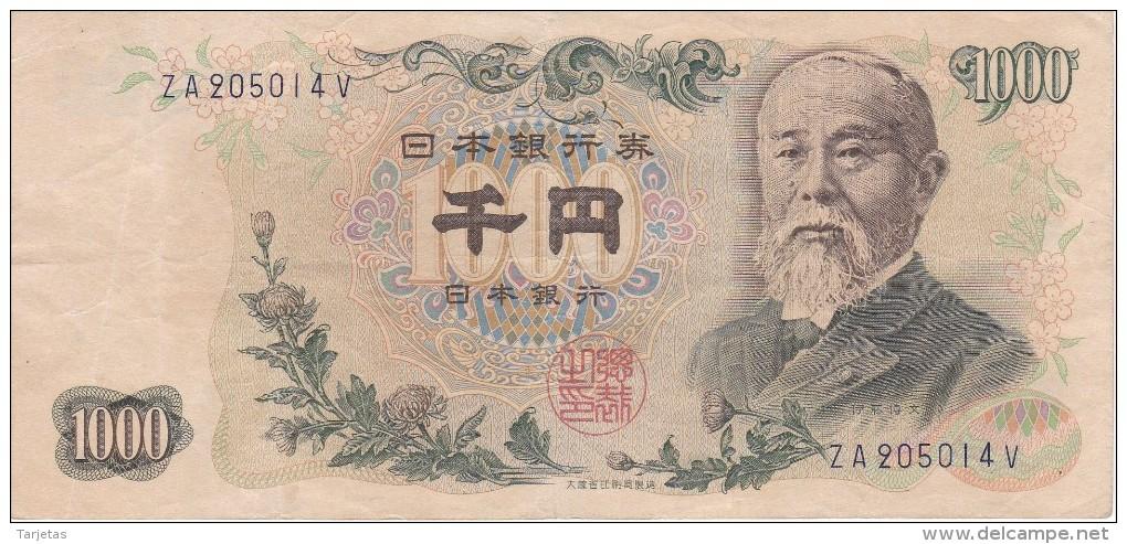 BILLETE DE JAPON DE 1000 YEN DEL AÑO 1963   (BANKNOTE) - Japón