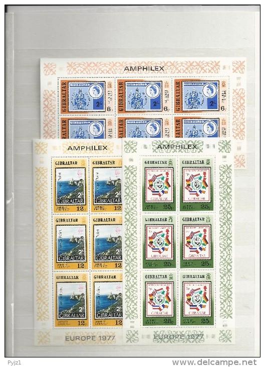 1977 MNH Amphilex/europa Sheets, Postfris ** - Gibraltar