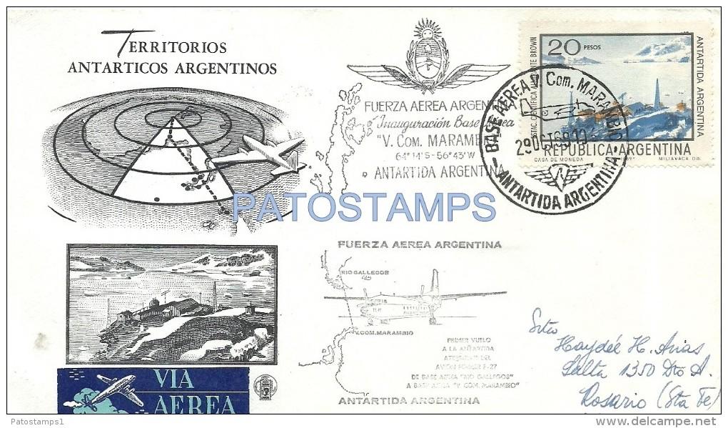 30155 ARGENTINA ANTARTIDA ANTARTICA ANTARCTIC COVER FUERZA AEREA AVIATION YEAR 1969 NO POSTAL POSTCARD - Alte Papiere