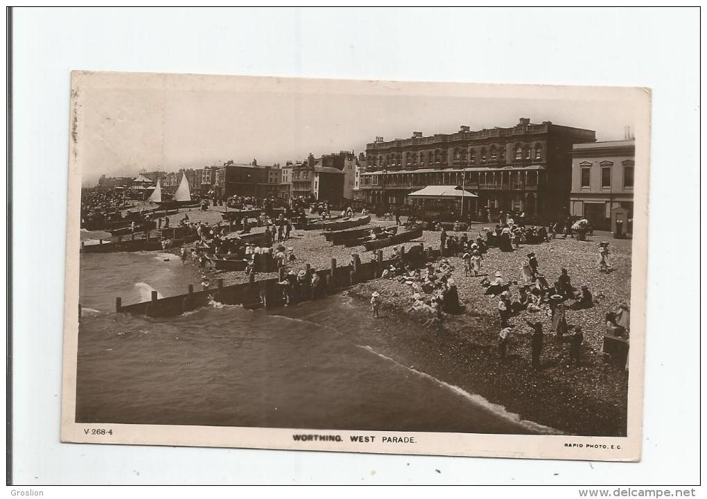 WORTHING 268.4 WEST PARADE  1907 - Worthing