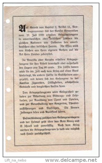 WWII WW2 Propaganda Original Leaflet ZG Series ZG.23 EINE MINUTE Die Dir Das Leb - Vieux Papiers