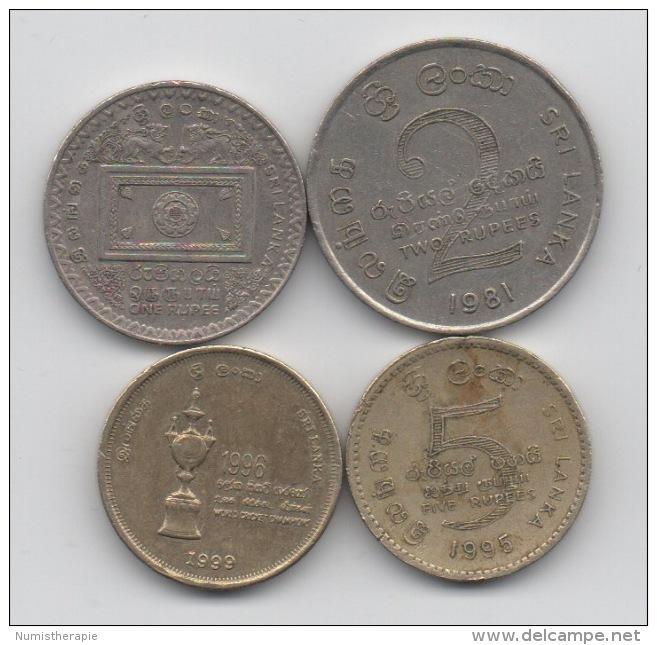 Sri Lanka : Lot De 4 Pièces Commémoratives 1981-1999 - Sri Lanka