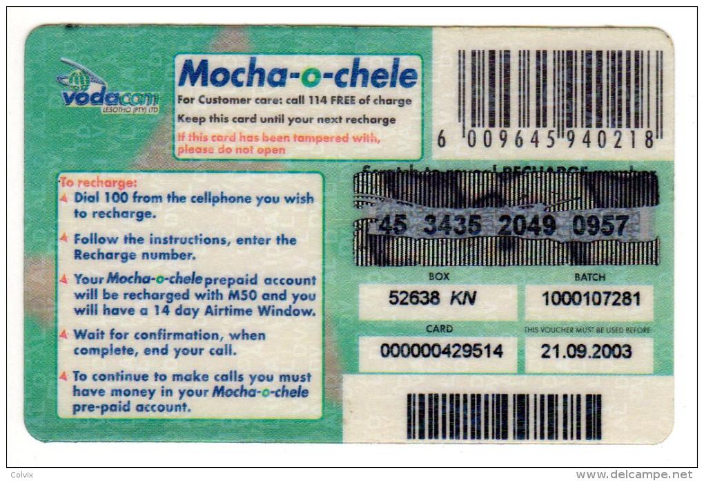 LESOTHO Prépayée VODACOM M50 Année 2003 - Lesotho