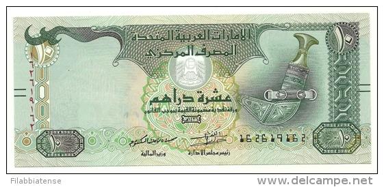 Emirati Arabi - 10 Dirham 2015, - Emirats Arabes Unis