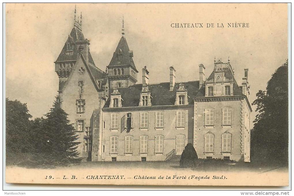 DEP 58 CHATEAU DE LA NIEVRE LOT DE 18 CARTES COLLECTION DES CHOCOLATS AIGUEBELLE - France