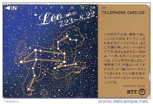 Lion Leo Zodiaque Zodiac Télécarte  B 302 - Zodiaco