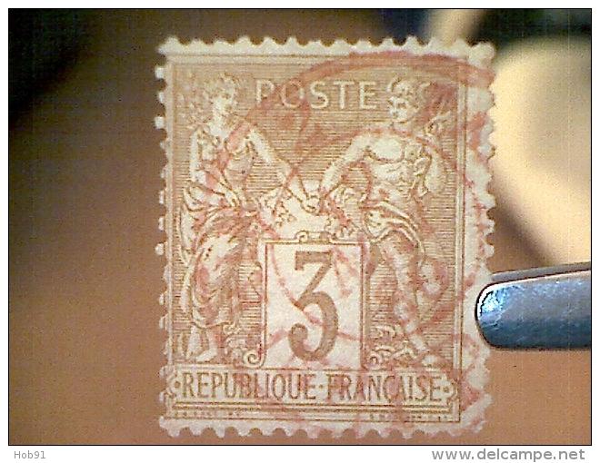 Sage N°86, Oblitération/Cachet Des Imprimés/Journaux Rouge (Cote 70€) - Superbe - 1876-1898 Sage (Type II)