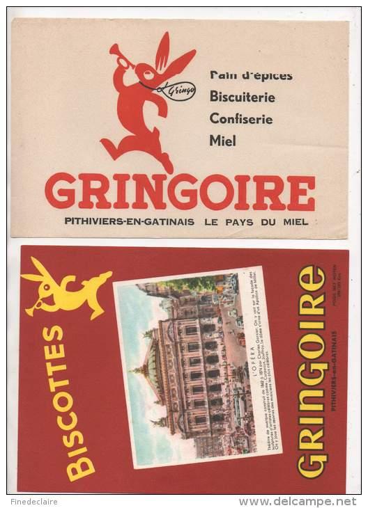 2 Buvards - Biscottes Gringoire - Biscottes