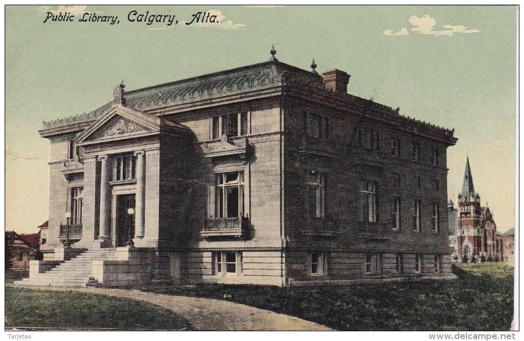 POSTAL DE CALGARY DE PUBLIC LIBRARY (CANADA) (NOVELTY MFG) - Calgary
