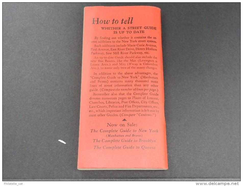 USA - New York - Guide Des Rues - Très Bon état - P 16734 - Livres, BD, Revues