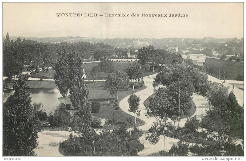 34 MONTPELLIER ENSEMBLE DES NOUVEAUX JARDINS - Montpellier