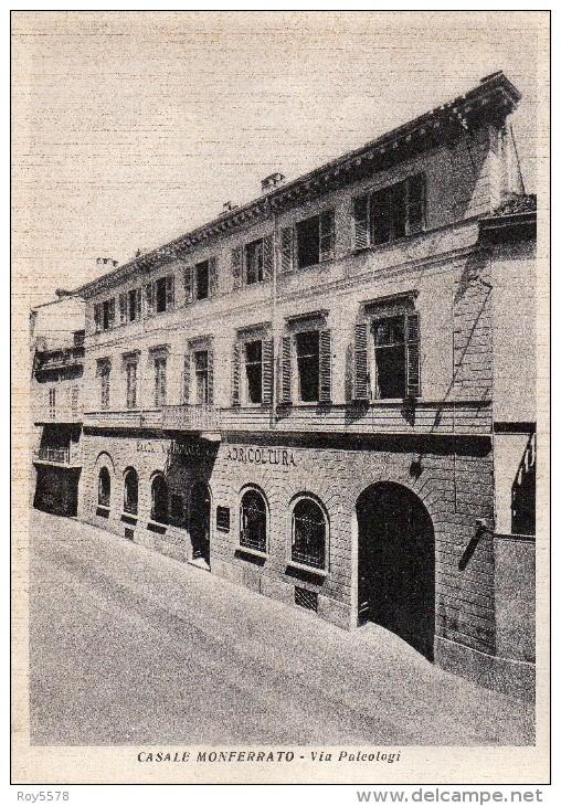 Piemonte-alessandria-casale Monferrato Via Paleologi Veduta Palazzo Banca Nazionale Agrigoltura - Italia