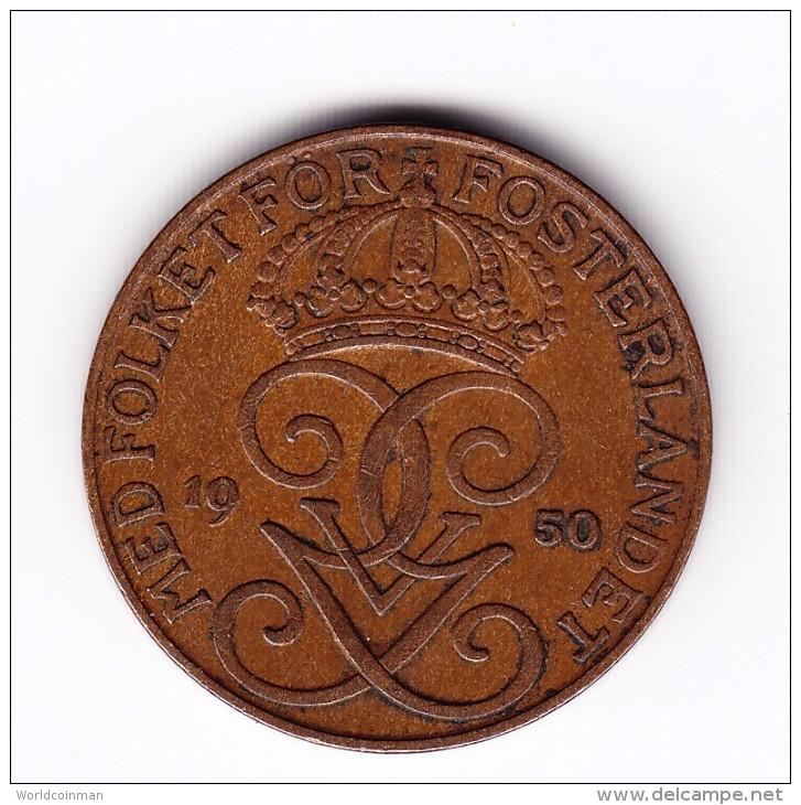 1950 Sweden 5 Ore Coin - Zweden