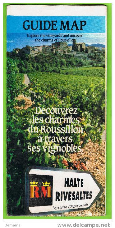 Guide Map, Découvrez Les Charmes Du Roussillon;halte Rivesalte - Dépliants Turistici