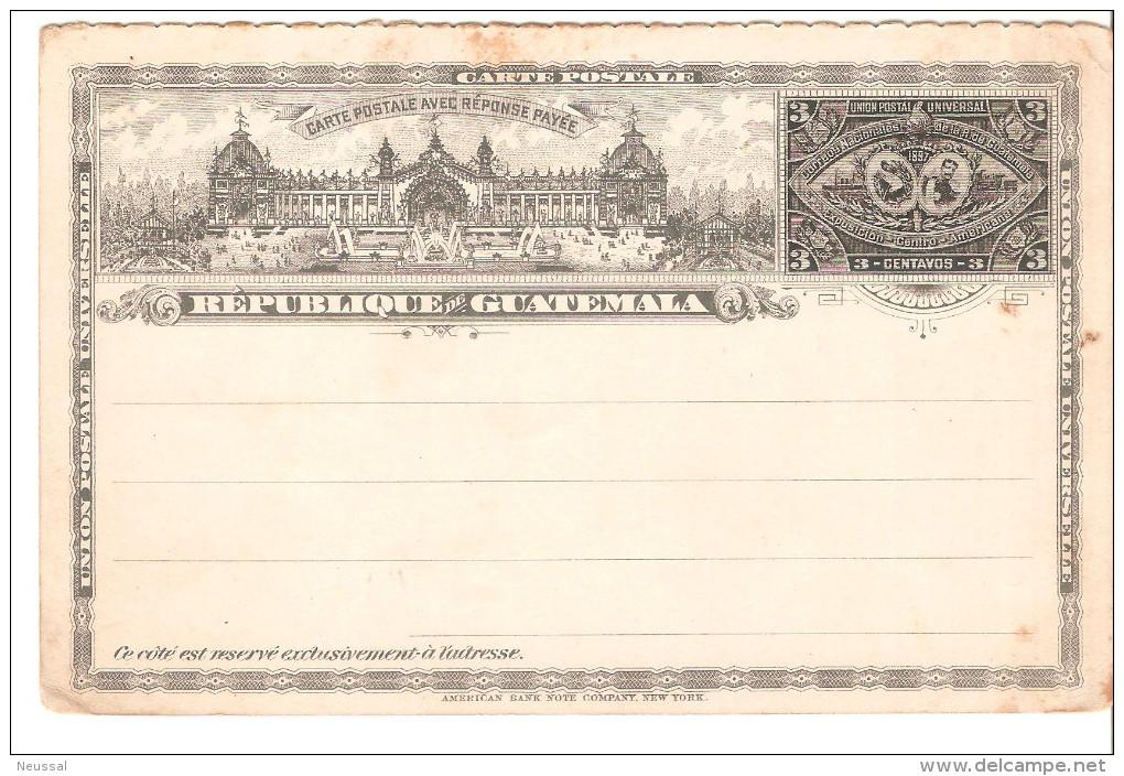 Entero Postal De Guatemala - Guatemala