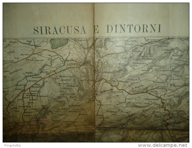 Cartina Di Siracusa E Dintorni, 1899 - Carte Geographique