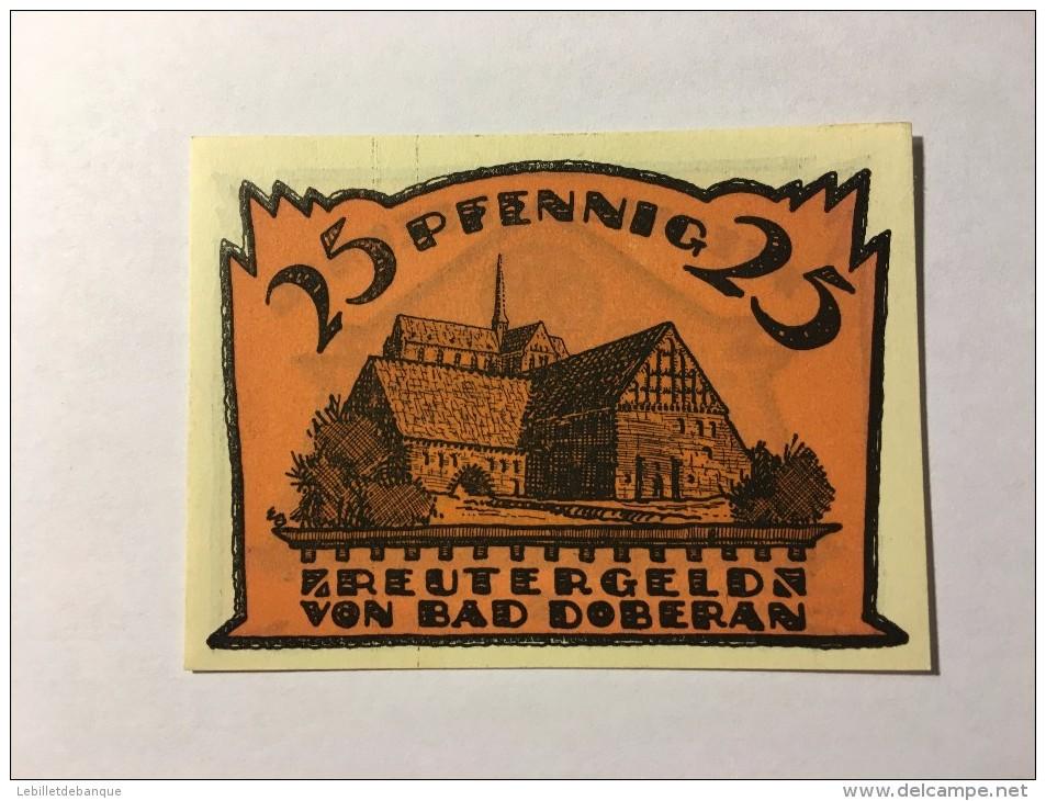 Allemagne Notgeld Bad Doberan 25 Pfennig 1921  NEUF - Collections