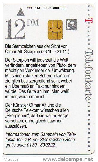 Dessin BD Télécarte Allemagne Telefonkarte Phonecard B366 - Zodiaco