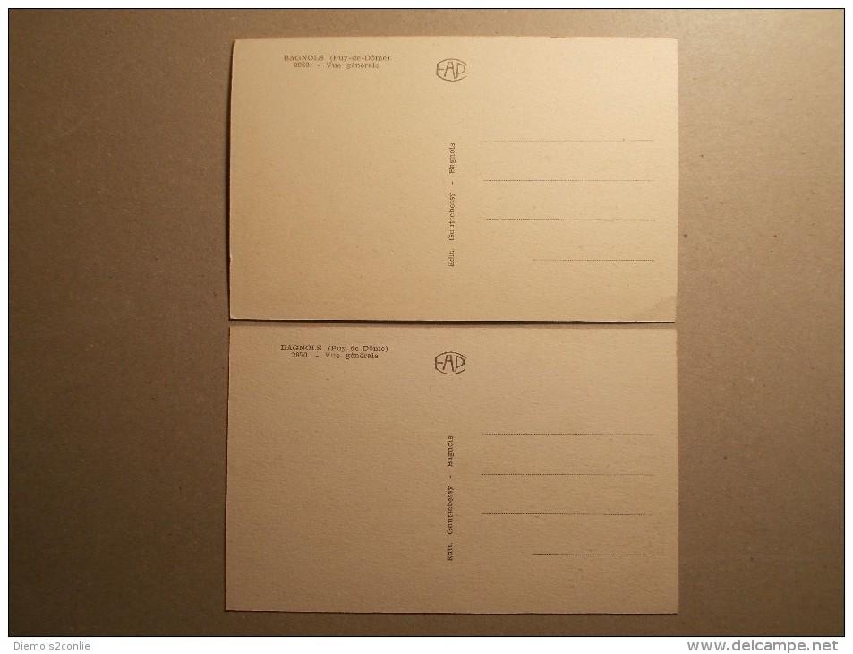 Cartes Postales - BAGNOLS (63) - Vues Generales (5 & 6/Mor) - France
