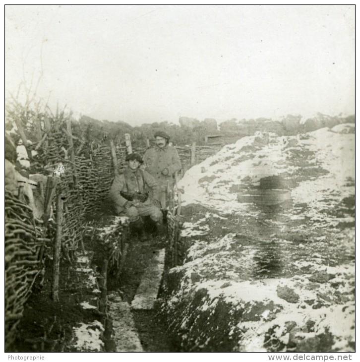 France WWI Pres De Verdun Tranchee Sous La Neige Hiver Ancienne Photo SIP 1914-1918 - War, Military