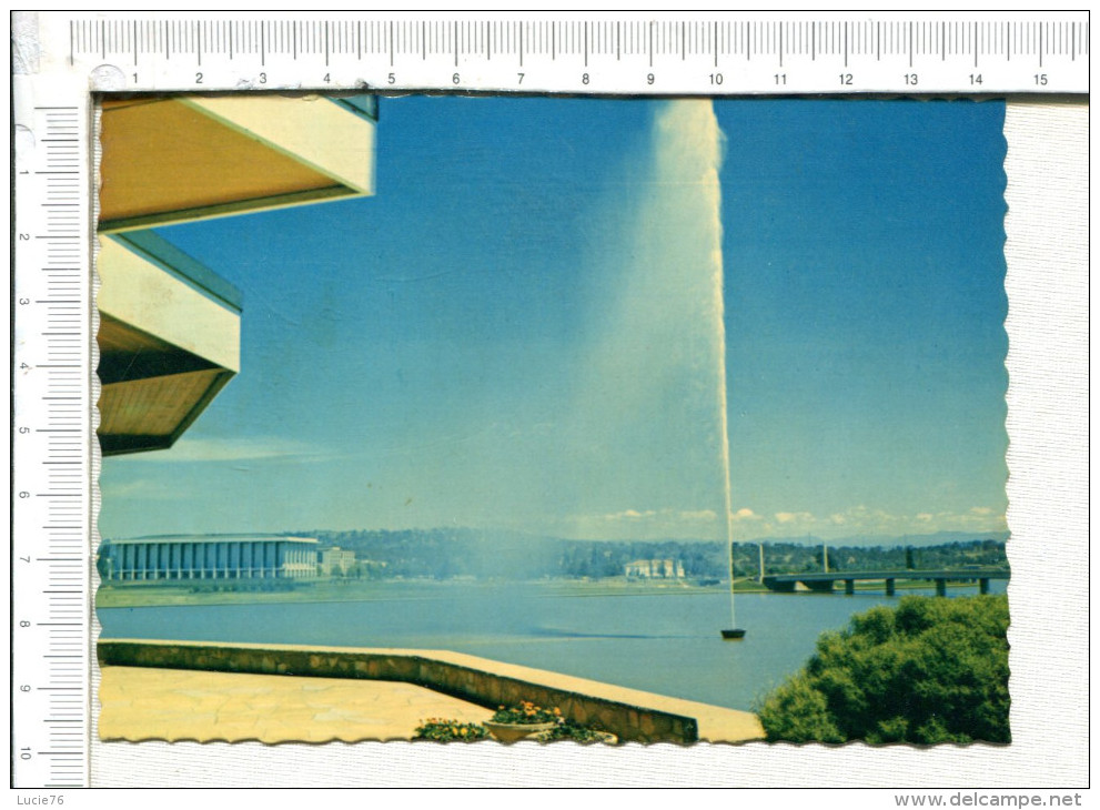 CANBERRA   -    ACT  -   Captain  Cook   Memorial Jet Situated  Near  Regatta Point,   It  Rises Fo A  Maximun  Heigt Of - Canberra (ACT)
