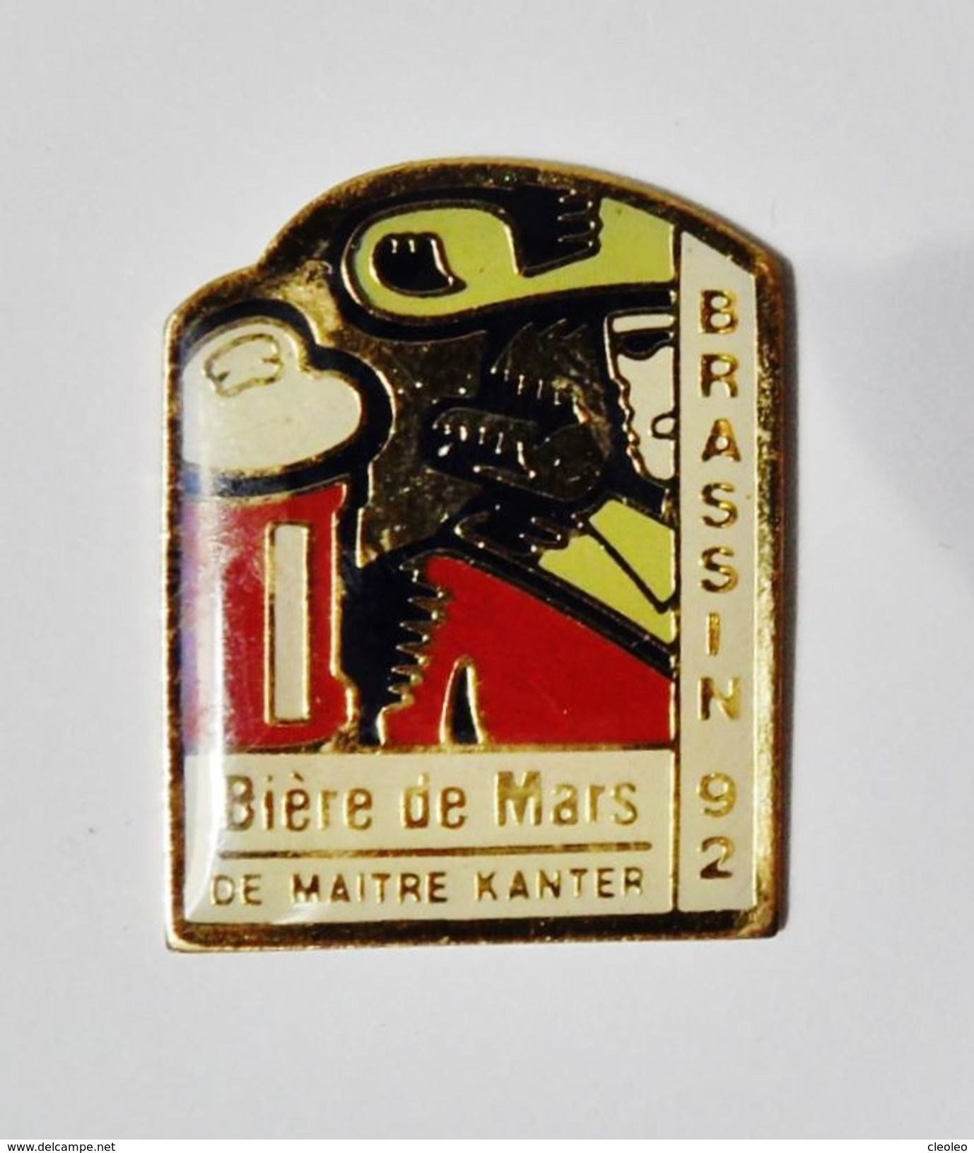 Pin's Bière De Mars De Maitre Kanter Brasserie 92 - 27R - Pin's