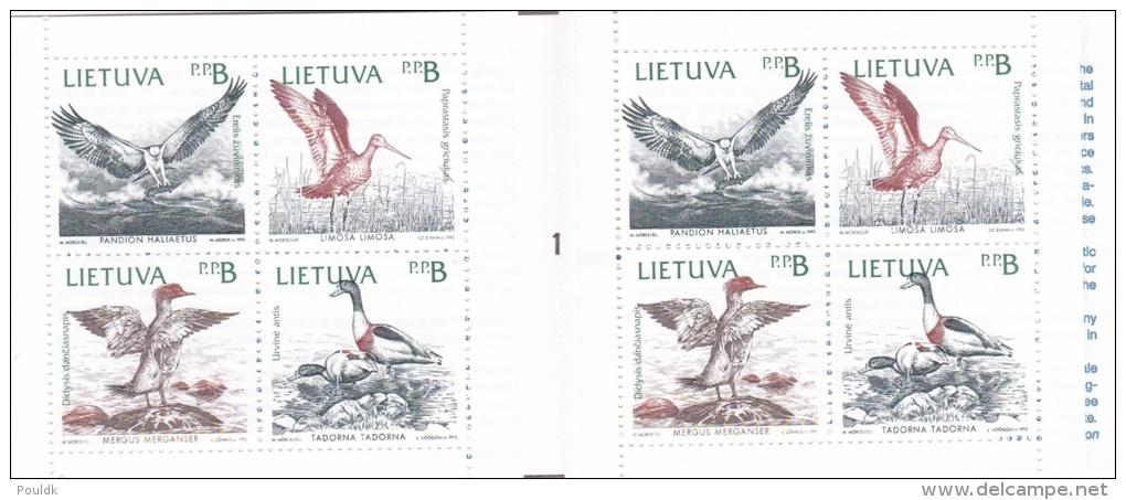 Lithuania 1992 Birds Booklet - MNH/** (G82-1) - Vögel