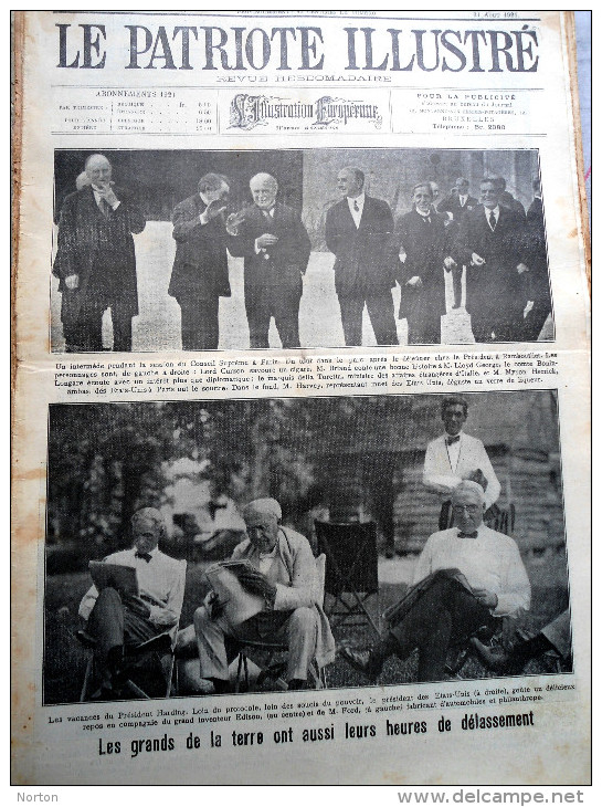 Le Patriote Illustré N°34 Du 21/08/1921 Berchmans Diest Malines Louvain Looz Loncin  Londres Maroc Melilla Espagne - Old Paper
