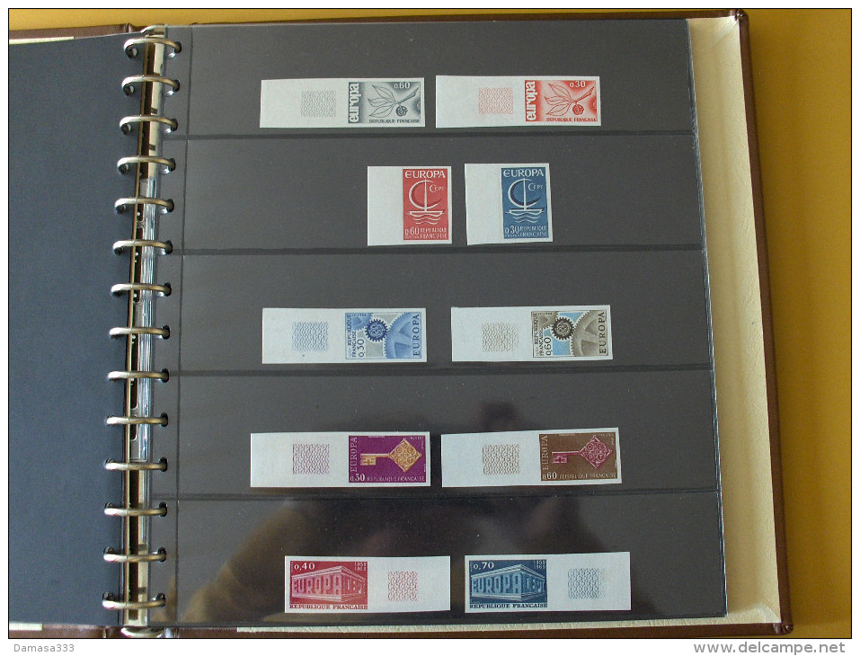 EUROPA CEPT FRANCIA  FRANCE 1956 / 1996 NON DENTELLATI Collezione Completa  NUOVI  FAVOLOSA!!!!! - Collezioni