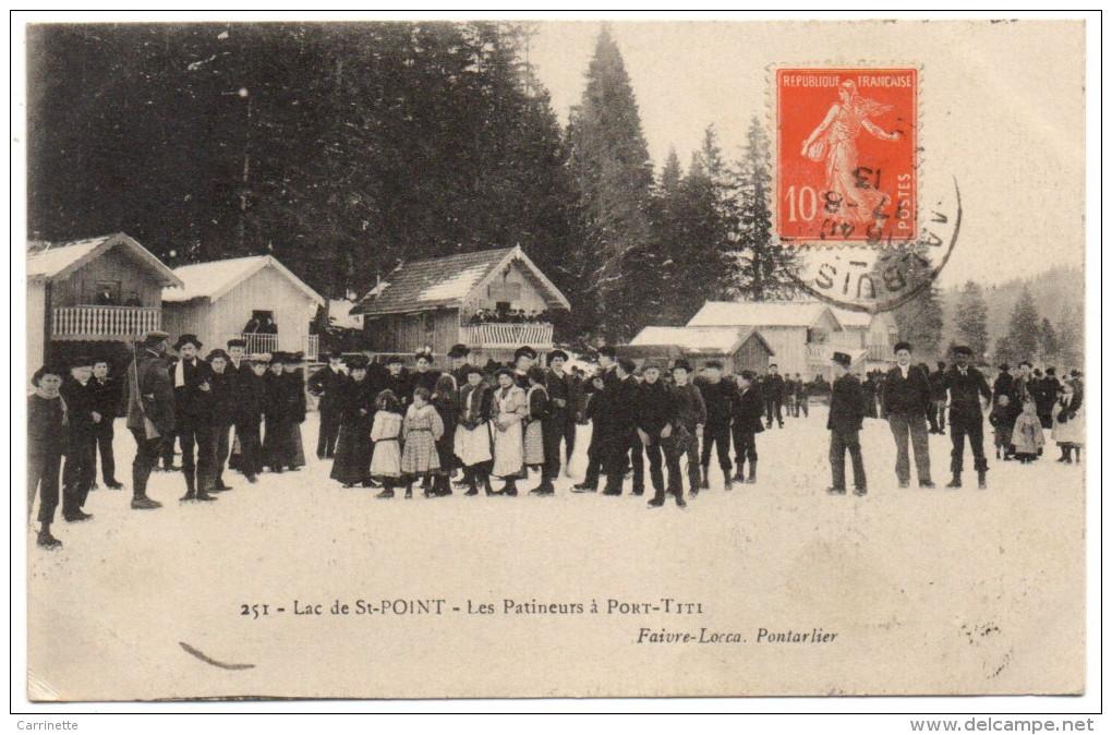 Lac De St POINT - 25 - Doubs - Les Patineurs à Port Titi - Autres Communes