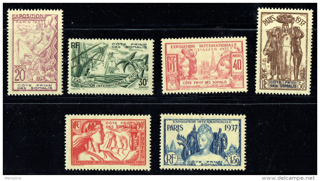 1937  Exposition Internationale De Paris  Yv 141-6 ** - Französich-Somaliküste (1894-1967)