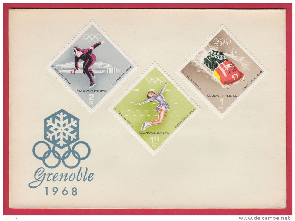 202894 / 1968 FDC - X Olympic Winter Games - Grenoble , France , Hungary - FDC