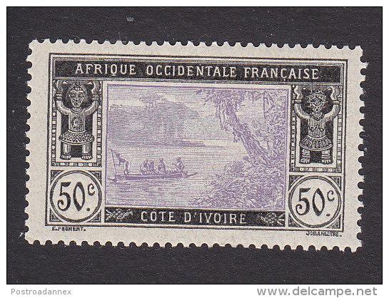 Ivory Coast, Scott #62, Mint Hinged, River Scene, Issued 1913 - Côte-d'Ivoire (1892-1944)