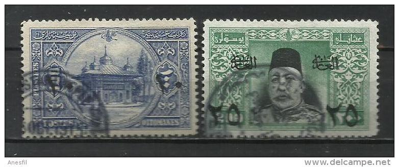 Turquia. 1915_Selos De 1914 Sobrecargados. - 1858-1921 Osmanisches Reich