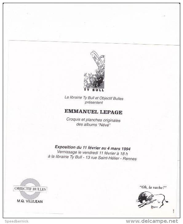 Bande Dessinée Dédicacée, NENE Névé -Blanc Nepal N°4-Dieter Lepage -rennes Objectif Bulles Villejean - Dessin Ty Bull - Dédicaces