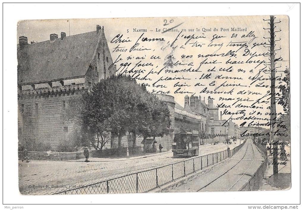 (8098-44) Nantes - Le Château Vu Sur Le Quai Du Port Maillard - Nantes