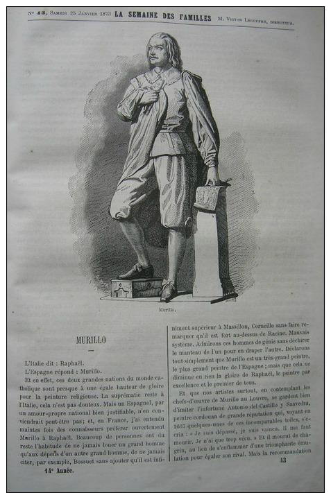 SEMAINE DES FAMILLES1873N°43: MURILLO/VACHE RACE DE DURHAM - Livres, BD, Revues