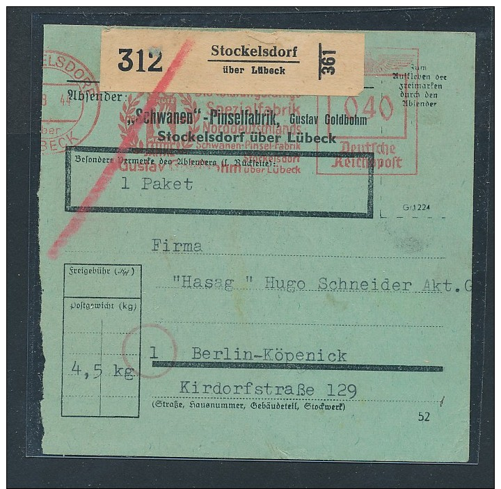 Paket Karte - Stockelsdorf (be2858 ) Siehe Scan - Deutschland