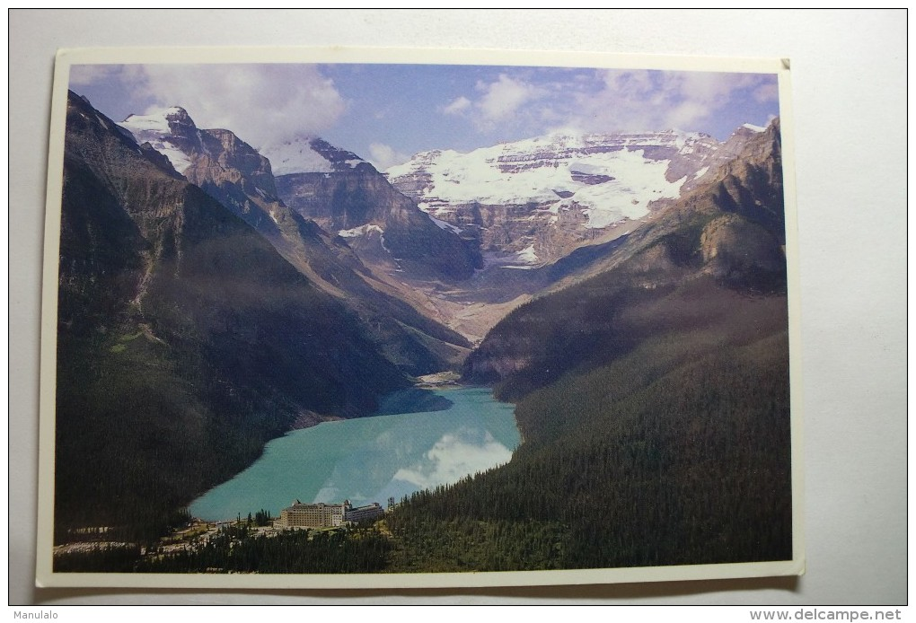 Lake Louise From The Air - Lac Louise