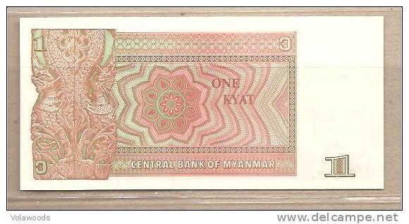 Myanmar - Banconota Non Circolata Da 1 Kyat P-67 - 1990 - Myanmar