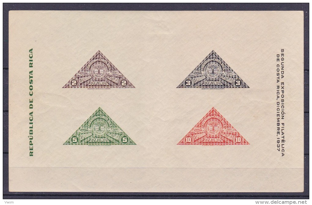 COSTA RICA   - 1937 - Bloc/Blok  Nr(s) 1 - Postfris/neufs/no-usado/ungebraucht/New- ** - Costa Rica