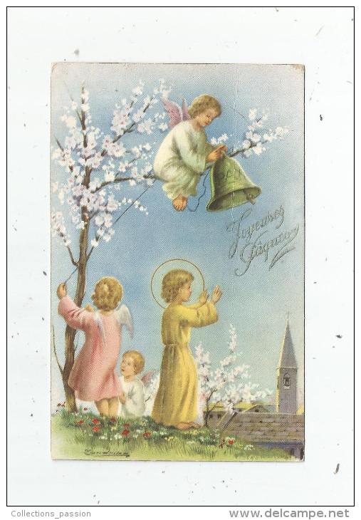 Cp , Anges , Religion , JOYEUSES PÂQUES , écrite , Serie Lux / 2a , Ed : AR N° 228 - Angels