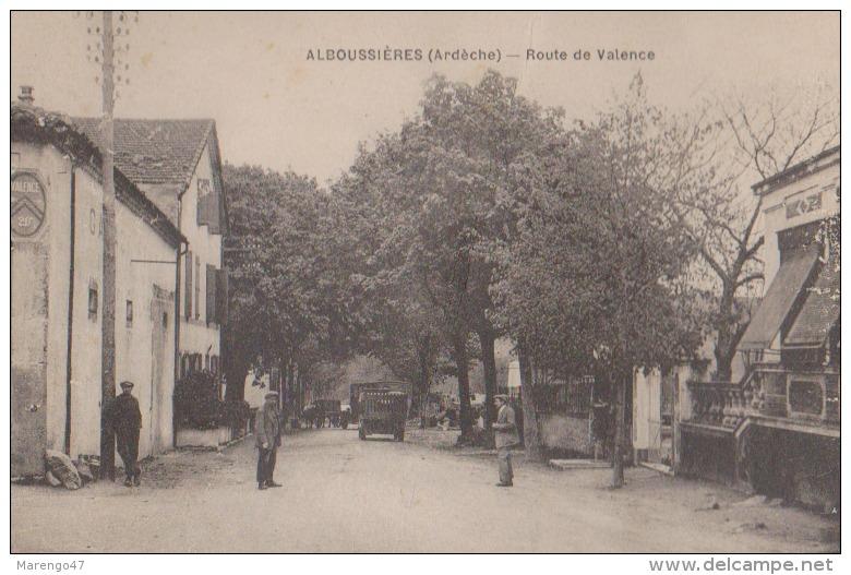 CPA:Alboussières.Route De Valence - France
